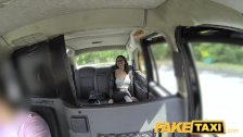 : Fake Taxi Spanish brunette with shaved pussy