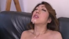 Hot milf, Reina Nishio, shows off in nasty m