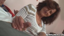 Horny girlfriends mother sucking and riding