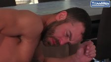 Scruffy Bearded Stud Gives Hungry Blowjob