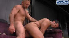 Muscular Latino Flip Fucks Hairy Daddy