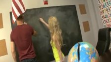 Handjob in the classroom