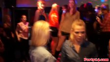 Euroteen party babes have fun with strippers