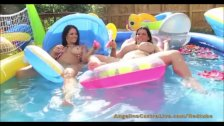 Angelina Castro & Ms Raquel pool Masturbation