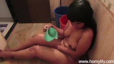 Indian Sexy Babe Lily In Shower Masturbating