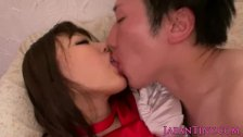 CFNM asian babe jizzed on ass