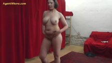 Busty MILF agent whore seduces a shy beginner