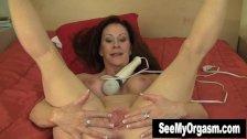 Busty Brunette Catherine Orgasm