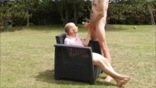 Sucking Hung Cock In The Garden
