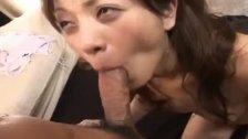 Sexy Asian babe Asahi Miura gets hairy pussy