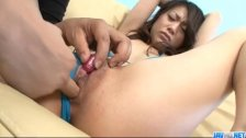 Hina Aisawa fucked with toys in rough ways