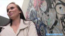 PublicAgent Hot babe fucks in alleyway