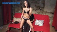 Czech newbie does sexy lapdance for stranger
