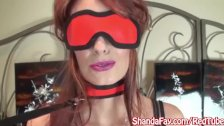 Kinky Milf Shanda Fay Sucks Cock Blindfolded!