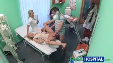 FakeHospital Nurse watches sexy couple fuck