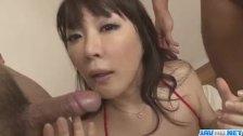 Busty Asian lady, Hinata Komine, craves for