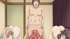 Three huge titted hentai babes gets fucked