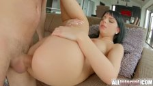 Allinternal dark haired hottie takes anal