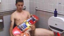 Young Dan Doe Jerks Off In Public Toilet