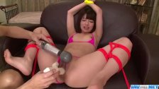 Akina Sakura fucked with toys during bondage
