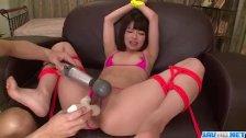 Akina Sakura fucked with toys during bondage