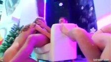 Bi pornstars fucking in a club