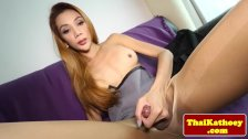 Naughty ladyboy stripping
