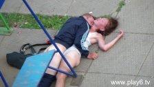 Drunk Couple Having Sex in Public Park