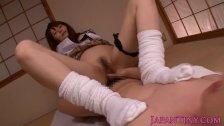 Japanese Yuria Satomi as a sexy schoolgirl