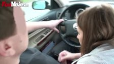 FUN MOVIES Sexy Amateur Teen in the car