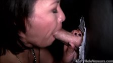 Asian Milf Sucks Dick in Gloryhole