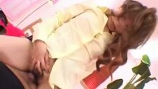 Japanese AV Model sucks dick and rubs it with
