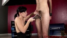 CBT new slave to cock torture is bound to pos