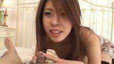 Haruka Sanada is aroused with vibrator and