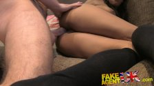 FakeAgentUK Agent stretches tiny ebony arse