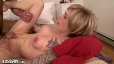 TS Nina Lawless Erotic Assfucking with Guy