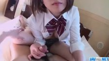 Naughty porn play along schoolgirl Riko Masa