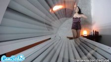 teen latina caught in tanning bed