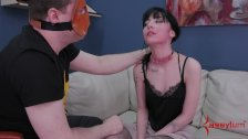 Hot goth girl punished with piss and anal