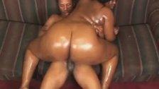 Ebony BBW Babe Rides On Top