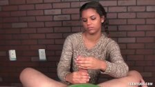 Sweet teen POV handjob
