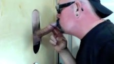Gloryhole Suck Off Of Curious Married Guy