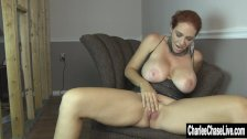 Home Fingering with Big Tit Charlee Chase