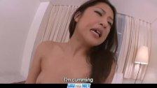 Subtitles Beautiful POV sex with japanese M
