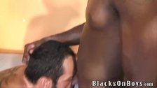 Bearded muscular white gay stud gets nailed