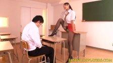 Japanese teacher Reiko Kobayakawa jerking