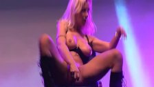 stepmoms dildo show on public stage