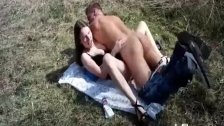 Fisting and fucking her teen pussy in public