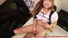 Kinky Japanese maid drops massive cumload