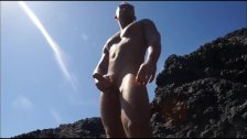 Jerking And Cumming On The Rocks